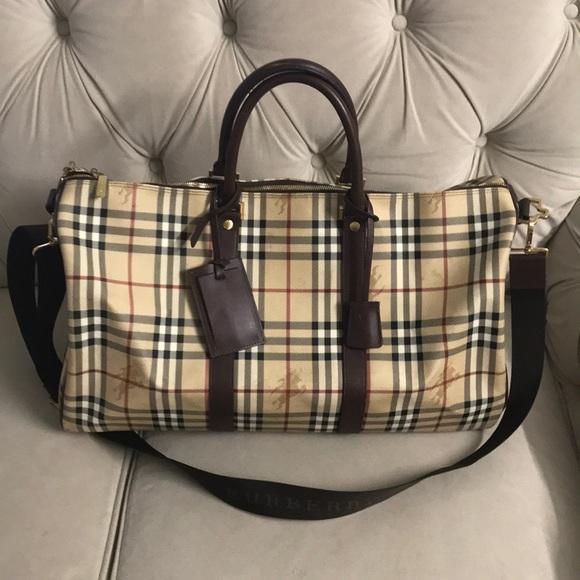 0f124c3e5687 Authentic Burberry Haymarket duffle bag